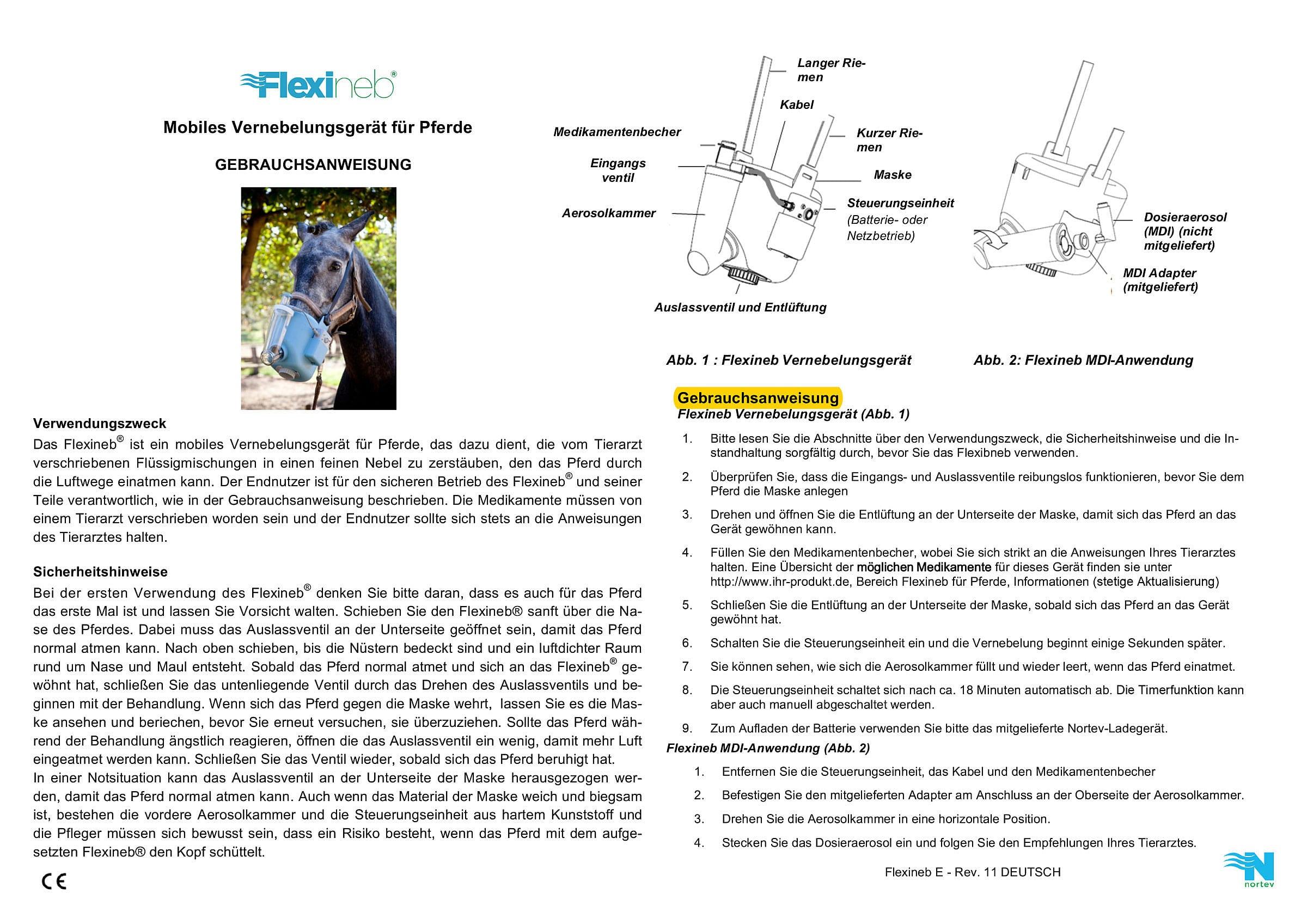 Gebrauchsanweisung Flexineb 1 De 04 18 1